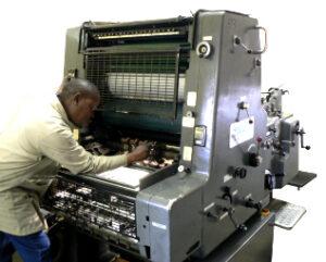 Heidelberg MO 4000 A2 numbering, scoring printing and perforating